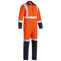 Bisley Taped TTMC Hi Vis Lightweight Drill Coverall