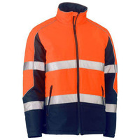 Bisley Taped Hi Vis Puffer Jacket with Stand Collar
