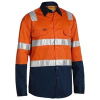 Bisley Taped Hi Vis Cool Lightweight Shirt with Shoulder Tape