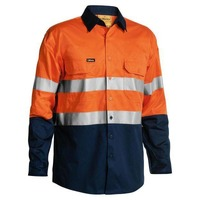Bisley Taped Hi Vis Cool Lightweight Shirt 4X Pack