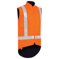 Bisley Taped TTMC Hi Vis Lined Vest