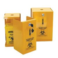 5L Sharps Metal Safe Yellow Armour
