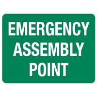 Emergency Assembly Point Sign 600 x 450mm