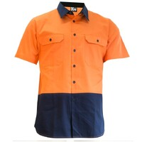 KM Workwear Short Sleeve Two Tone Drill Shirt