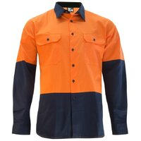 KM Workwear Long Sleeve Two Tone Drill Shirt
