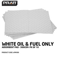 White Oil & Fuel Only Absorbent Pad 300gsm- 10 Packs Of 10 Pads
