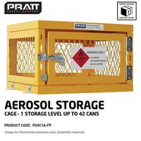 Aerosol Storage Cage 1 Storage Level Up To 42 Cans (Comes Flat Packed Assembly Required)