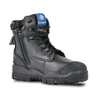 Bata Industrials Longreach CT Zip Safety Work Boots Black