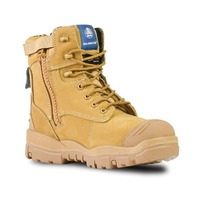 Bata Industrials Longreach CT Zip Safety Work Boots Wheat