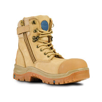 Bata Industrials Patriot Zip Safety Work Boots Wheat