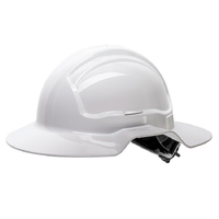 Force360 Broad Brim Hard Hat Non-Vented 6 Point Ratchet Harness Type 1 10 Pack