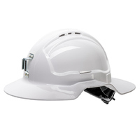 Force360 Broad Brim Miners Hard Hat Vented 6 Point Ratchet Harness Type 1 10 Pack