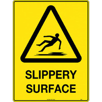 Caution Slippery Surface Safety Sign 300x225mm Poly