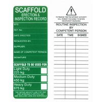Scaffold Tags Approved For Use Poly Pack of 25